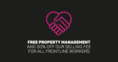 Free Property Management and 30% off our Selling Fee for all Frontline Workers